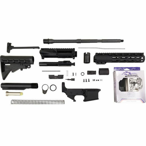Anderson Manufacturing Anderson AM-15 Forged AR15 Rifle Kit - Black or 5.56NATO or 16 Barrel or M-LOK Rail