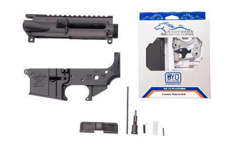 Anderson Manufacturing Anderson AM-15 Forged AR15 Matched Receiver Set - Includes Parts Kit