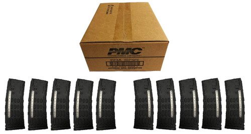 KCI USA PMC Bronze .223 Remington Rifle Ammo - 55 Grain or FMJ-BT or 1 Case 50 boxes Bundled w/ TEN KCI AR-15 .223/5.56 Magazine - 30rd or Polymer