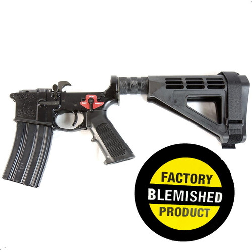 Franklin Armory FACTORY BLEM - Franklin Armory BFSIII Equipped PISTOL Complete AR15 Pistol Lower Receiver - Black or Installed BSFIII Trigger or SBM4 Brace or BLEMISHED, sold As-Is NO RETURNS