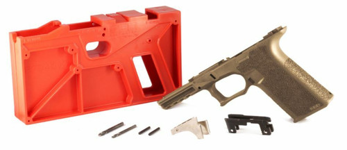 Polymer80 Polymer 80 PF940 80percent Full Size Pistol Frame Kit V2 - FDE or Compatible with Glock 17/22