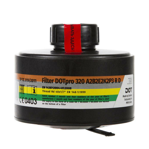 MIRA Safety MIRA Safety DOTpro 320 40mm Gas Mask Filter - 7.5 Year Shelf Life or Fits CM-6M and CM-7M Gas Mask
