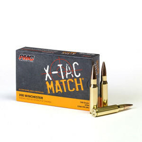 PMC Ammunition PMC X-TAC Match .308 Winchester Rifle Ammo - 168 Grain or OTM or 20rd Box