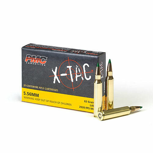 PMC Ammunition PMC X-TAC 5.56NATO Rifle Ammo - 62 Grain or LAP or 20rd Box