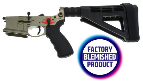 Franklin Armory FACTORY BLEM - Franklin Armory BFSIII Equipped SALUS Complete AR15 Pistol Lower Receiver - Desert Smoke or Installed BSFIII Trigger or SBM4 Brace or BLEMISHED, sold As-Is NO RETURNS