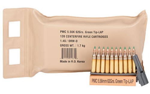 PMC Ammunition PMC X-TAC 5.56NATO Rifle Ammo - 62 Grain or LAP or 120rd Battle Pack