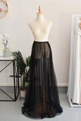 Tulle Overlay Skirt For Classic Multiway Dress in Black