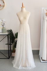 Tulle Overlay Skirt For Classic Multiway Dress in Champagne