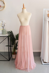 Tulle Overlay Skirt For Classic Multiway Dress in Dusty Pink