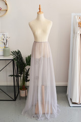 Tulle Overlay Skirt For Classic Multiway Dress in Grey