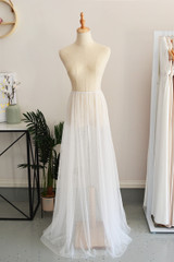 Tulle Overlay Skirt For Classic Multiway Dress in Ivory