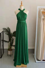 Classic Multiway Infinity Dress in Emerald Green