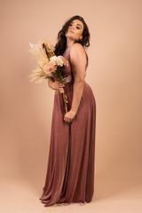 Velvet Multiway Infinity Dress in Light Mauve