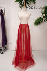 Tulle Overlay Skirt For Classic Multiway Dress in Wine