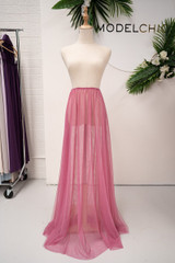 Tulle Overlay Skirt For Classic Multiway Dress in Plum