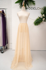 Tulle Overlay Skirt For Classic Multiway Dress in Gold