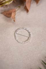 Therese Silver Rhinestone Buckle - Small
