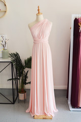 Classic Multiway Infinity Dress in Light Pink