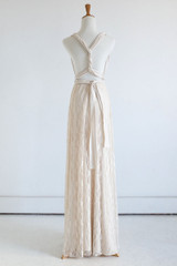 Detachable Lace Overlay Skirt in Champagne  - Multiway Dresses