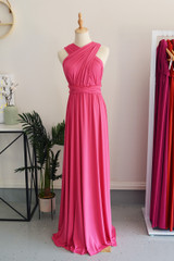 Classic Multiway Infinity Dress in Hot Pink