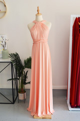 Classic Multiway Infinity Dress in Peach