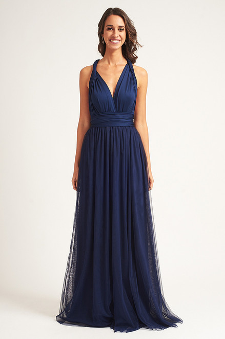 Tulle Overlay Skirt For Classic Multiway Dress in Navy