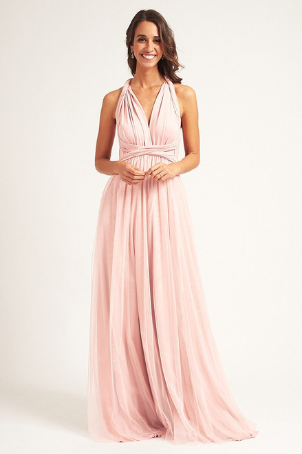 Tulle Overlay Skirt For Classic Multiway Dress in Pastel Pink
