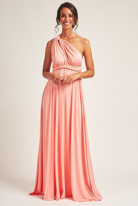 Classic Multiway Infinity Dress in Light Coral Pink