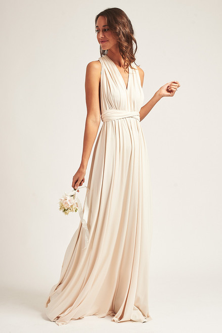 Classic Multiway Infinity Dress in Champagne