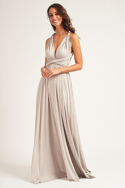 Classic Multiway Infinity Dress in Grey
