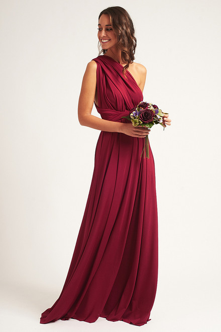 Classic Multiway Infinity Dress in Burgundy