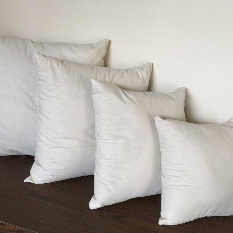 Wool filled pillow inserts.
