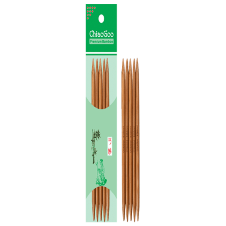 "8"" ChiaoGoo Bamboo Double Point Knitting Needles"