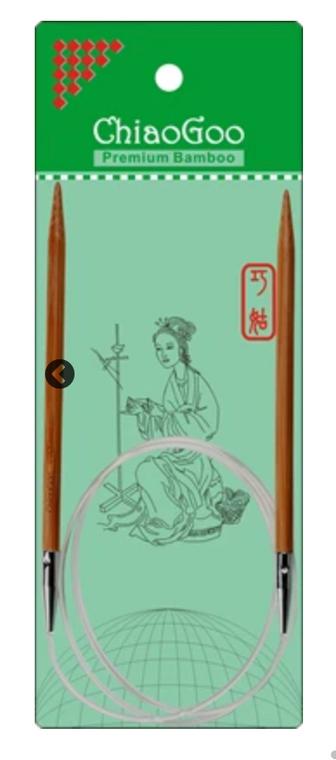 """ChiaoGoo Bamboo 40"""" Circular Knitting Needles"""