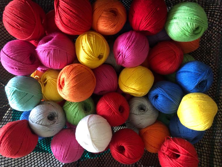 Bright Cotton Yarn in 80 yard balls