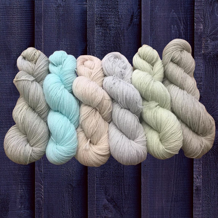 All Cooped Up! 7 Skeins in Egg Colors