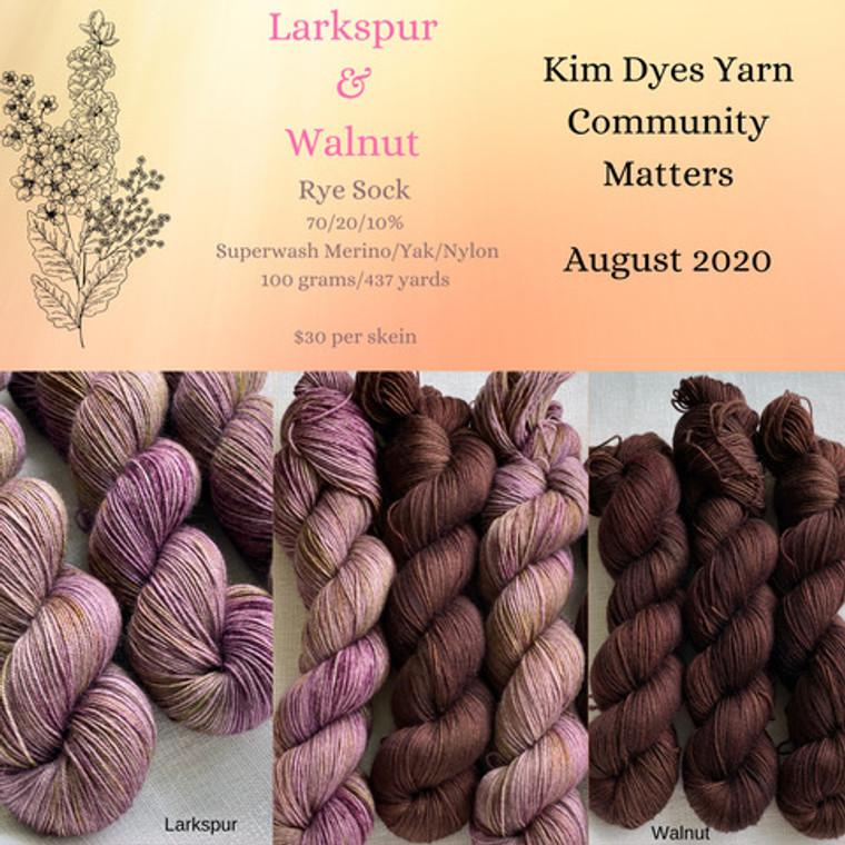 Kim Dyes Yarn Community Matters - August