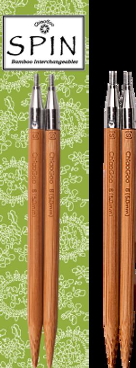 "ChiaoGoo SPIN 5"" Bamboo Interchangeable Needle Tips"
