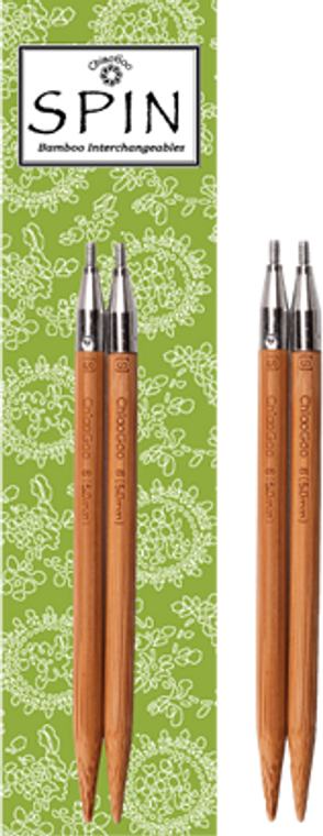 "ChiaoGoo SPIN 4"" Bamboo Interchangeable Needle Tips"