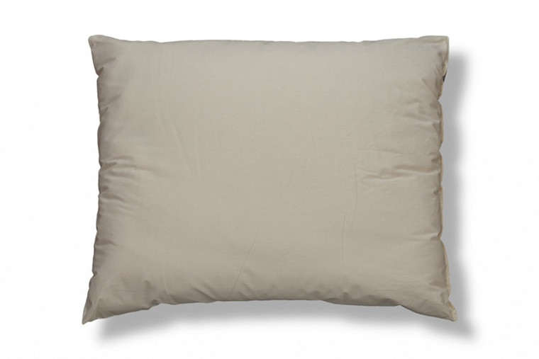 ORGANIC COTTON Filled Bed Pillows with Organic Cotton Cover