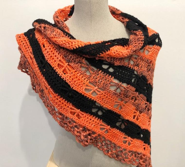 Monarch Butterfly Crochet Shawl Kit