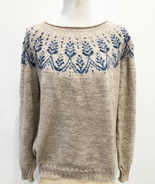 Anaashah Sweater Kit using CeCe's Wool's Local Gem Yarns