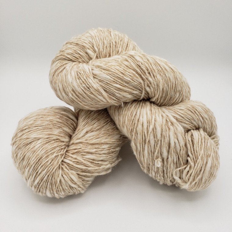 Luxury Cashmere/Lamb's Wool Blend Slub Yarn