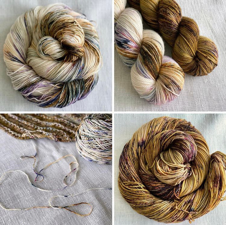 Kim Dyes Yarn Monthly LYS Colorway - August