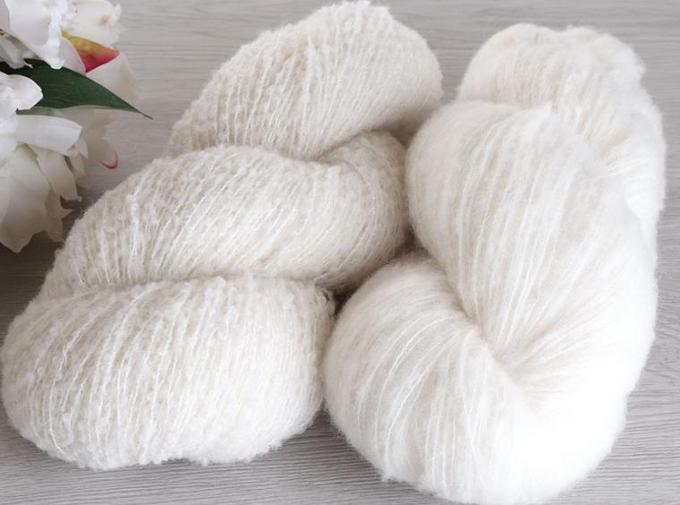 Ashford Merino Boucle Yarn - looped or brushed