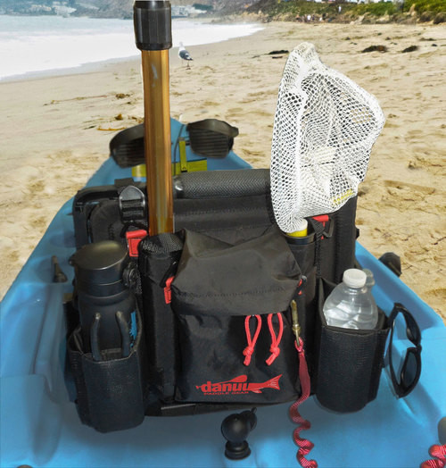 WingMan kayak and canoe fishing seat accessory pack