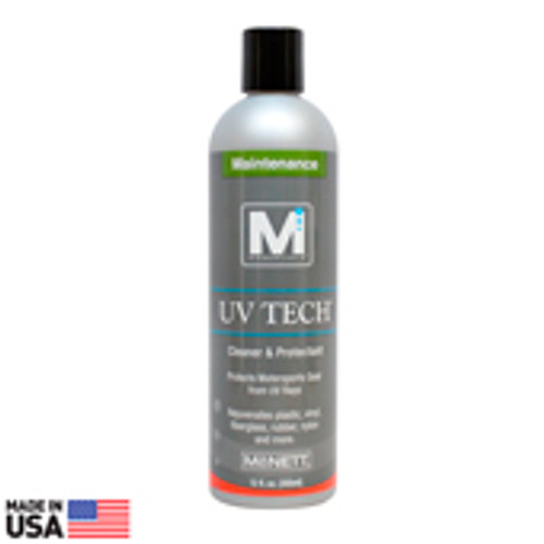 UV Tech is a powerful protectant for use on hundreds of items including dry suit seals, kayaks, binocular housings, boat, covers and a variety of outdoor fabrics and materials. Rejuvenates synthetic and natural materials and protects surfaces from sun damage and color fading. Restores gear to its original condition and prolongs gear life.  Replenishes plasticizers and polymers that are lost from prolonged weather exposure. Nontoxic, Biodegradable, Nonflammable.  (Packaging may vary slightly) 12oz