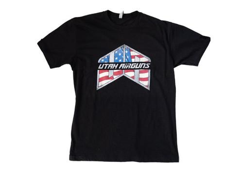 UA T-Shirt (Black w/ Flag Logo)