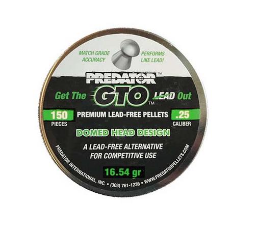 Predator GTO Lead Free .25 | 150 pcs | 16.54 gr