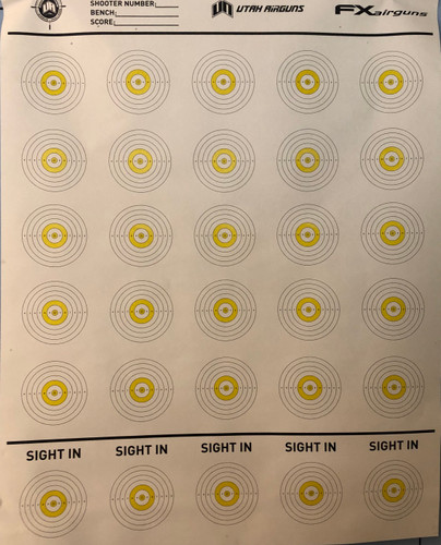 RMAC Official 100yd Targets (3x4 ft.)